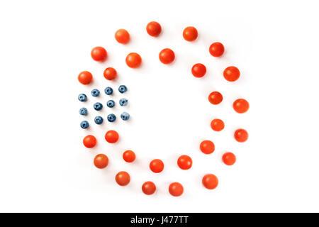 Patriotische Frame in roten und blauen Farben der US-Flagge Vektor ...