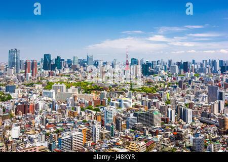 Skyline von Tokyo, Japan. - Stockfoto