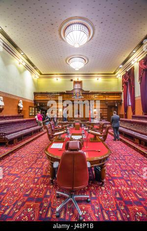 Australien, New South Wales, Sydney, das Oberhaus Legislative Council Chamber des neuen Parlaments South Wales während - Stockfoto