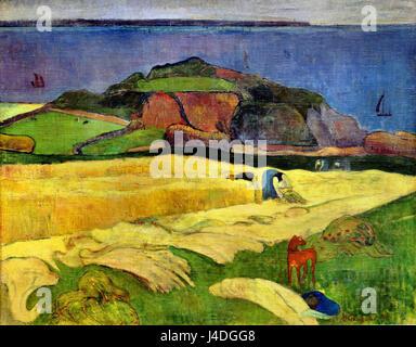 Ernte: Le Pouldu 1890 Paul Gauguin 1848 – 1903 Frankreich Französisch - Stockfoto