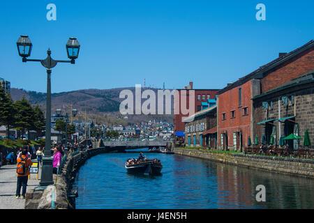 Otaru Kanal, Otaru, Hokkaido, Japan, Asien - Stockfoto