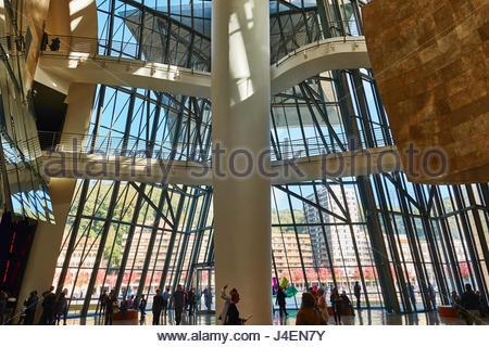 Das Innere des Guggenheim-Museum von Frank Gehry, Bilbao, Baskenland, Spanien, Europa - Stockfoto