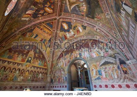 Die spanische Kapelle, der ehemalige Kapitelsaal des Klosters von Santa Maria Novella Kirche, Florenz, Toskana, - Stockfoto