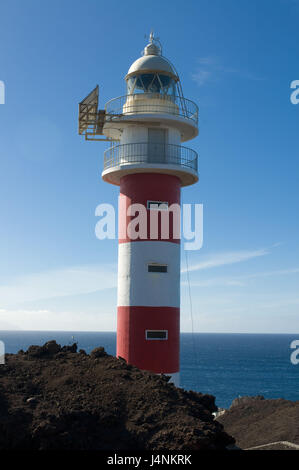 Spanien, die Kanaren Insel Teneriffa, Punta Teno, Leuchtturm, - Stockfoto