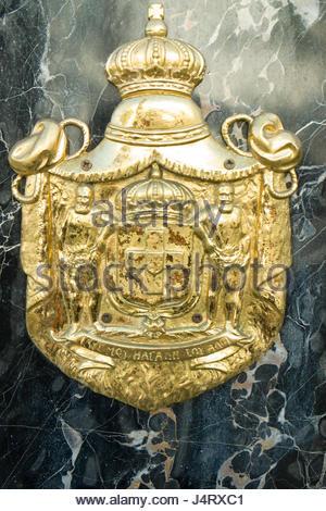 Goldener Schild Emblem für Cartier, Brighton Weg, Beverly Hills, Kalifornien, USA - Stockfoto