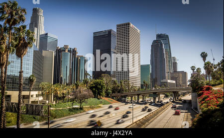 Los Angeles, CA - 4. St. Bridge Blick nach Süden - Stockfoto