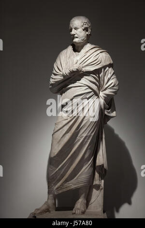 Marmorstatue des griechischen Staatsmann und Redner Aeschines (389-314 v. Chr.). Römische Kopie aus dem 1. Jahrhundert - Stockfoto