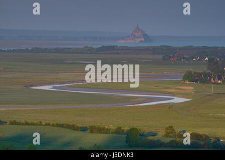 Bucht von Mont Saint Michel, Normandie, Frankreich - Stockfoto