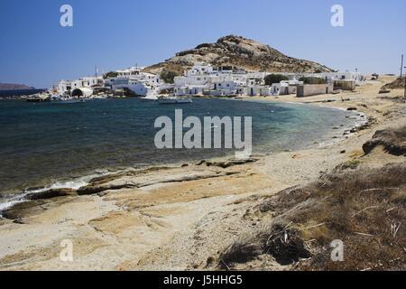 Strand auf Mykonos in Agia anna - Stockfoto