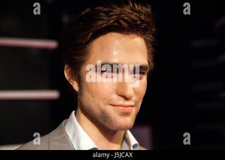 Amsterdam, Niederlande - März 2017: Wachsfigur von Robert Pattinson in Madame Tussauds Wachsfigurenkabinett in Amsterdam, - Stockfoto