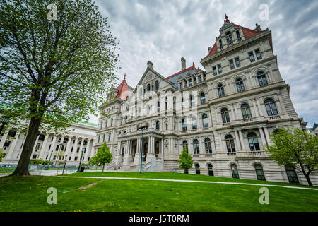 Das Exterieur des New York State Capitol in Albany, New York. - Stockfoto