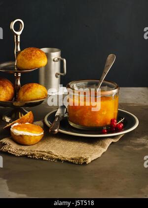 Kürbis Apfel confiture - Stockfoto