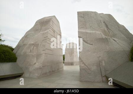 Berg der Verzweiflung Granitfelsen in der Martin Luther King Jnr Memorial Washington DC USA - Stockfoto