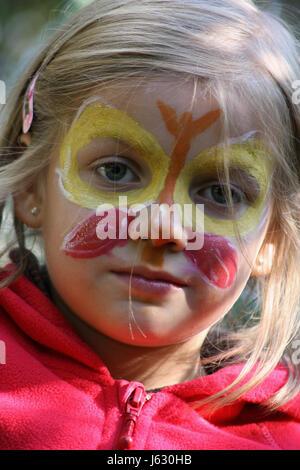 Farbe Schmetterling Gesicht Farbig Bunten Wunderschonen