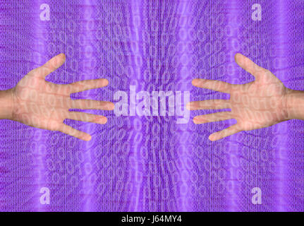 Hand Hand Technik Hilfe Hilfe Unterstützung Hilfe Erfolg Team Geste Menschen - Stockfoto