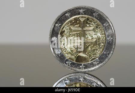 2 Euro Münze Slowakei 2009 Stockfoto Bild 41448761 Alamy