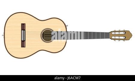 Musik Musik Gitarre Saite Packthreads akustischen Instrument Messmethode - Stockfoto