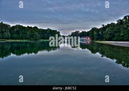 Bayern in den Morgen September frischen Wasser Wasser Wasser des Sees Binnengewässer - Stockfoto