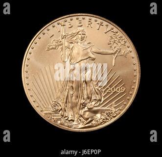 Münze Freiheit Freiheit Metall Adler Unze gold Bankkredite Institution dollar - Stockfoto