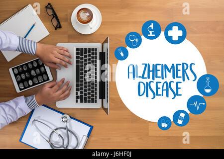 Alzheimer-Krankheit-Konzept, degenerative Erkrankungen des Gehirns Parkinson - Stockfoto