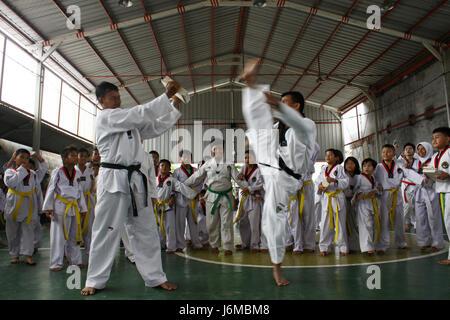 Bekasi Regency Indonesien 21 Mai 2017 Dutzende Von Taekwondo