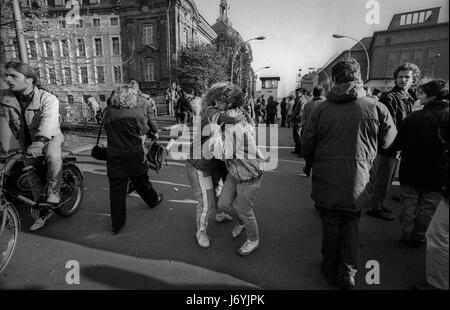 Berlin, Deutschland-fotografiert an den Tagen vor dem Fall der Berliner Mauer einschließlich der Nacht von der Wand - Stockfoto