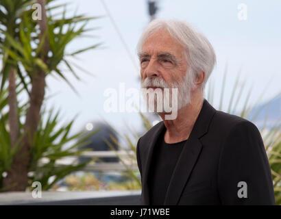 Cannes, Frankreich. 22. Mai 2017. Regisseur Michael Haneke das Happy End Film Foto rufen auf dem 70. Cannes Film - Stockfoto