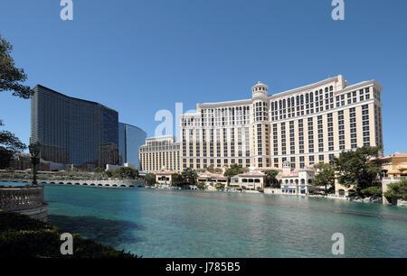Bellagio und kosmopolitischen Hotels in Las Vegas, Nevada, USA - Stockfoto