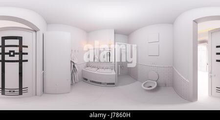Im modernen skandinavischen Stil Bad Interieur mit einer ...