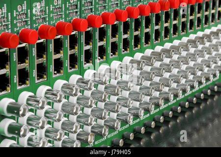 Videokonverter optische Faser Interview Unterhaltung solide Kamera Fotostudio - Stockfoto