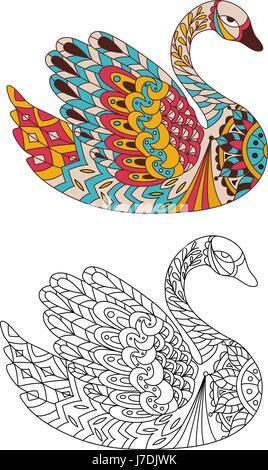 malbuch für erwachsene. färbung bilder mit fairytale magic einhorn, können auch für das drucken