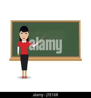 Junge Lehrerin - Stockfoto