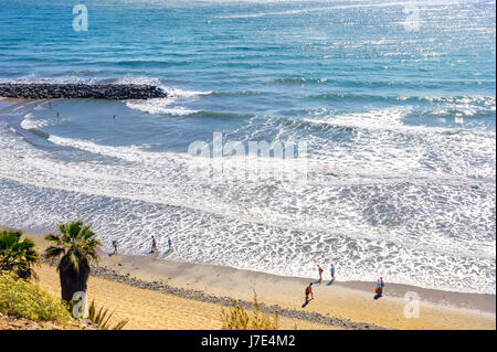 Strand in Playa del Ingles. Maspalomas, Gran Canaria, Kanarische Inseln, Spanien - Stockfoto