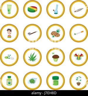 Medizinisches Marihuana Symbol Kreis - Stockfoto