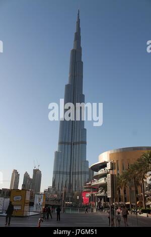 Aussicht vom Gipfel am Burj Khalifa, Vereinigte Arabische Emirate - Stockfoto