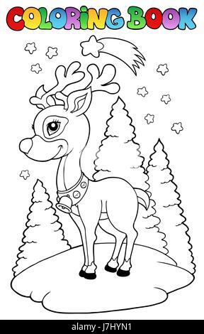 Abbildung Farbe zeichnen Hirsch Cartoon schöne beauteously schöne ...