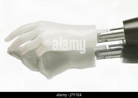 Nahaufnahme der humanoiden Roboter-hand - Stockfoto