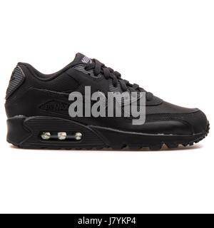 best service 58440 ee7bd ... Nike Air Max 90 Mesh (GS) Jugend schwarz Running Sneaker - 724824-001