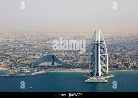 Dubai Burj Al Arab Jumeirah Beach Hotel-Luftbild-Fotografie Vereinigte Arabische Emirate - Stockfoto