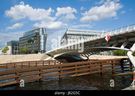 Brücke Berlin Tiergarten Mitte Pre moderne moderne Verkehr - Stockfoto