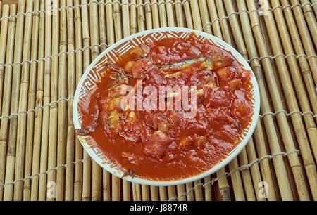Nethili Meen Kulambu - traditionelle Fisch curry Rezept ...
