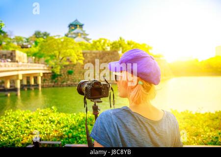 Reisefotograf in Japan - Stockfoto