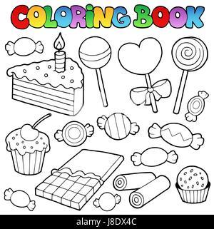 Kuchen Malbuch Süßwaren Für Geburtstag Süße Für Urlaub Multi