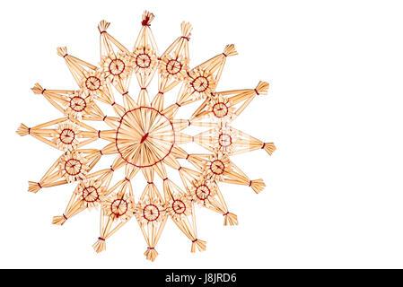 Strohhalm Basteln Weihnachten Dekoration Sterne Sternchen