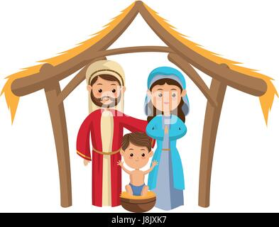 joseph maria und baby-jesus-cartoon-design vektor abbildung - bild: 123262031 - alamy