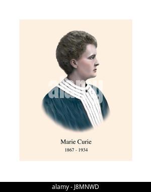 Marie Sklodowska Curie, 1867-1934, polnische geboren Französisch Physiker, Chemiker - Stockfoto