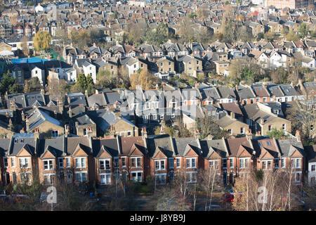 Gesamtansicht der Wohnungsbestand in Süd-London - Stockfoto