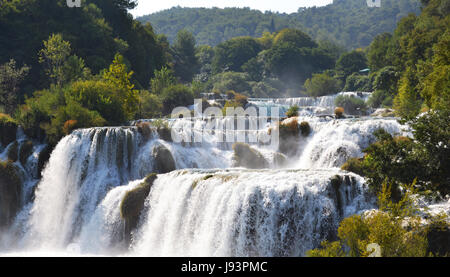Park, Europa, Wasserfall, Kroatien, National, Wasserfälle, Treppen, schön, - Stockfoto