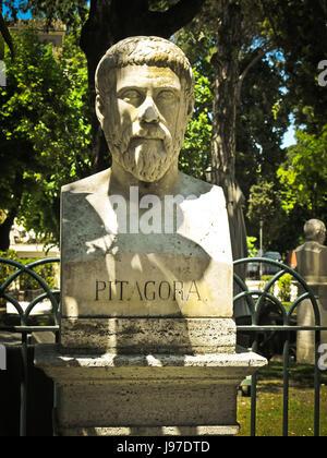 Büste Skulptur des Pythagoras von Samos - Stockfoto