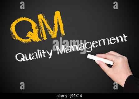 qm - Qualitätsmanagement - Stockfoto